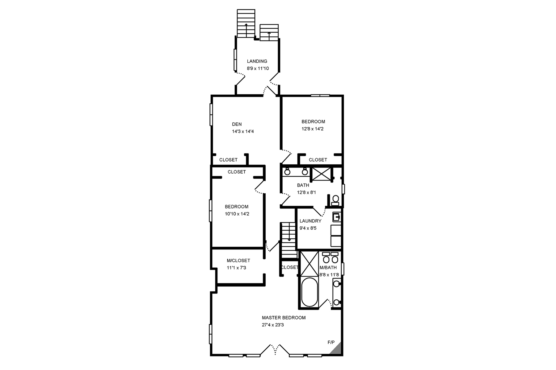 Floor Plan for Endless Summer - Large Home with views of the lake, Sleeps 16 plus Hot Tub